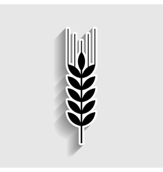 Wheat sign Sticker style icon vector image