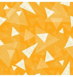 Yellow textured triangles seamless pattern vector image