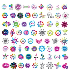 Biggest collection of logos Wifi connection vector image