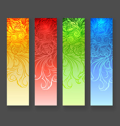 four abstract vertical banners vector image