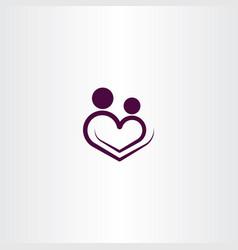 heart love logo icon sign vector image vector image