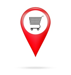 Pointer to shopping basket vector image vector image