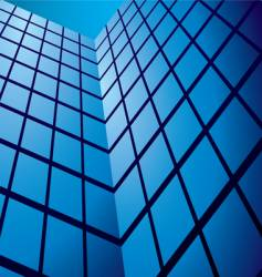 abstract glass tower block vector image vector image