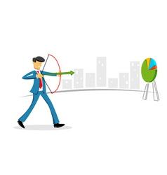 businessman targeting vector image