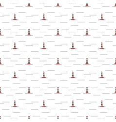 pattern lighthouse vector image