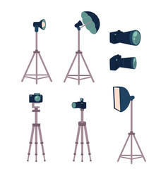 professional photo studio equipment set - camera vector image