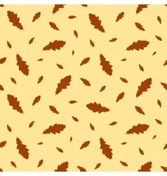 Seamless pattern autumn leaves oak vector image