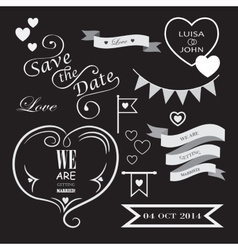 Set of icons for wedding vector image vector image