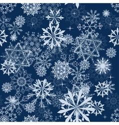 snowflakes seam vector image vector image