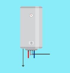 Electric water heater Flat icon for web design and vector image