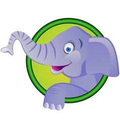Funny elephant cartoon vector