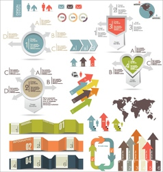 Infographics modern design vector image