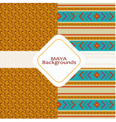 maya culture background vector image vector image