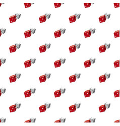 red and white dice cubes pattern vector image