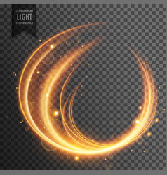 Transparent curvy light effect vector