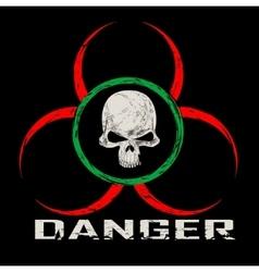 Warning symbol with skull vector image
