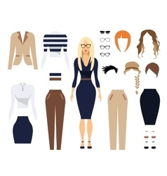 Woman in office clothes stylish uniform design vector image