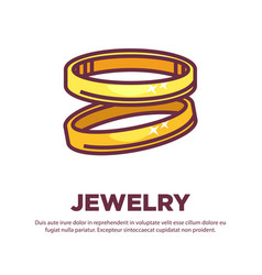 a pair of golden rings vector image