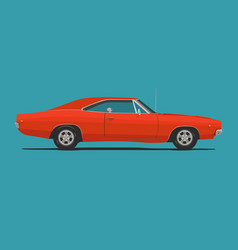 american classic muscle car vector image vector image