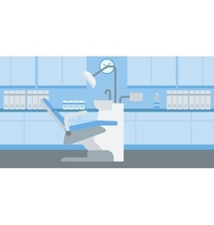 Background of dentist office vector image