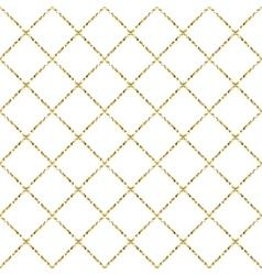 Gold foil glitter line stripes seamless pattern vector image