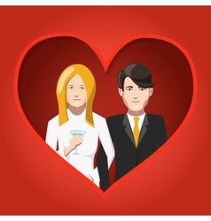 Happy bride and groom in love flat vector image