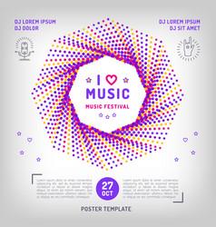 music festival party invitation arts flyer vector image
