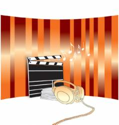 music in the movie vector image
