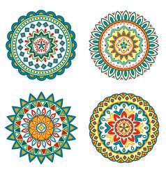 set of colorful mandalas vector image vector image