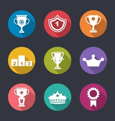 Set of Prizes and Trophy Signs vector image