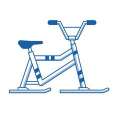snowmobile or winter bike icon vector image vector image