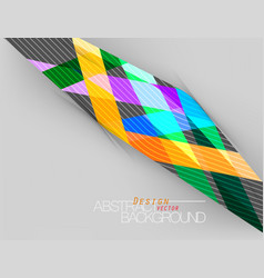 Abstract colors shape scene vector
