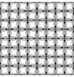 Abstract geometric monochrome pattern with unusual vector image