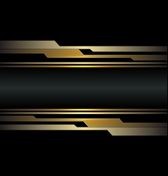 Abstract gold circuit cyber on dark grey metallic vector