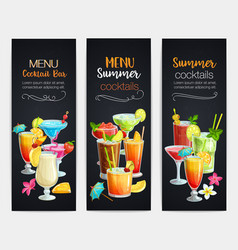 alcoholic cocklails banners vector image