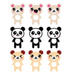 Bears-kawaii-icons-set-2 vector