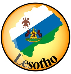 Button Lesotho vector