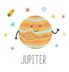 cartoon funny planet vector image