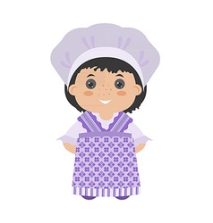 Cartoon girl provence vector