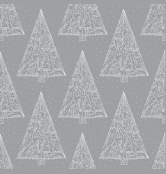 Christmas trees pattern abstract xmas seamless vector