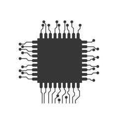 Circuit board icon Technology design vector image
