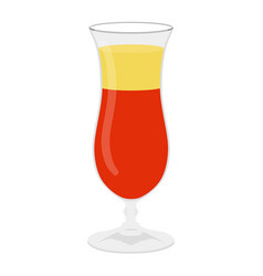 classic alcohol cocktail drink isolated on white vector image