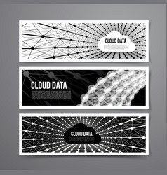 cloud data connection technology vector image