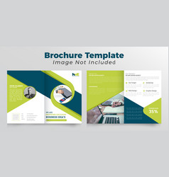 Creative bifold brochure design vector