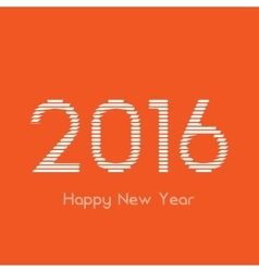 Creative happy new year 2016 design vector image