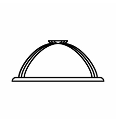 Dish with lid icon outline style vector