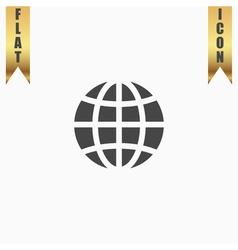 Earth Globe Emblem vector