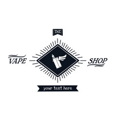 Electric cigarette personal vaporizer vector
