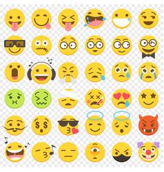 Emoji big flat set 2 vector