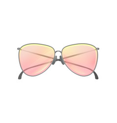 fashion women sunglasses with yellow-pink gradient vector image